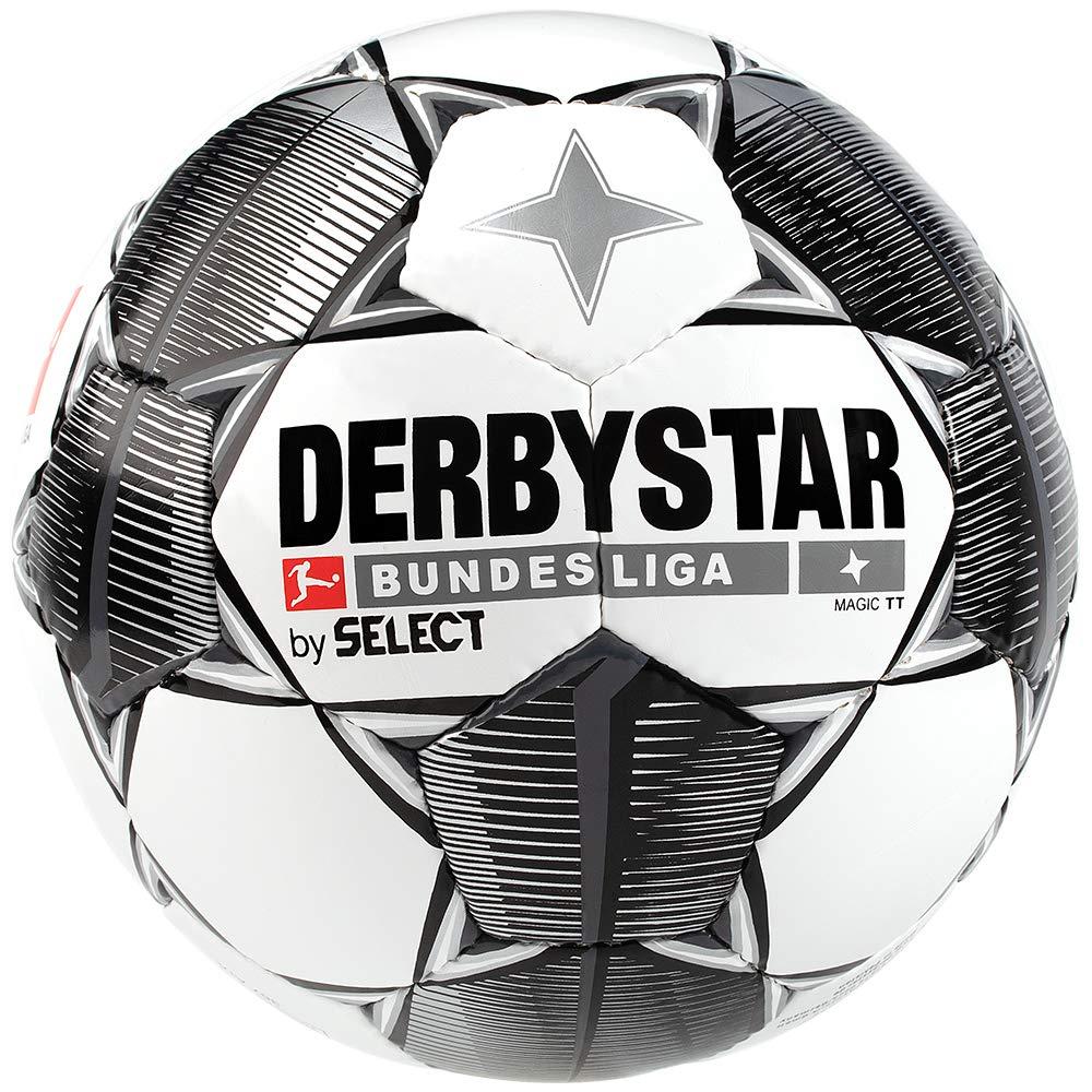 Derbystar Bundesliga Magic TT Balón de fútbol, Color Blanco, Negro ...