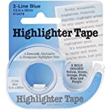 "Highlighter Tape 1/2""X393""-Blue"