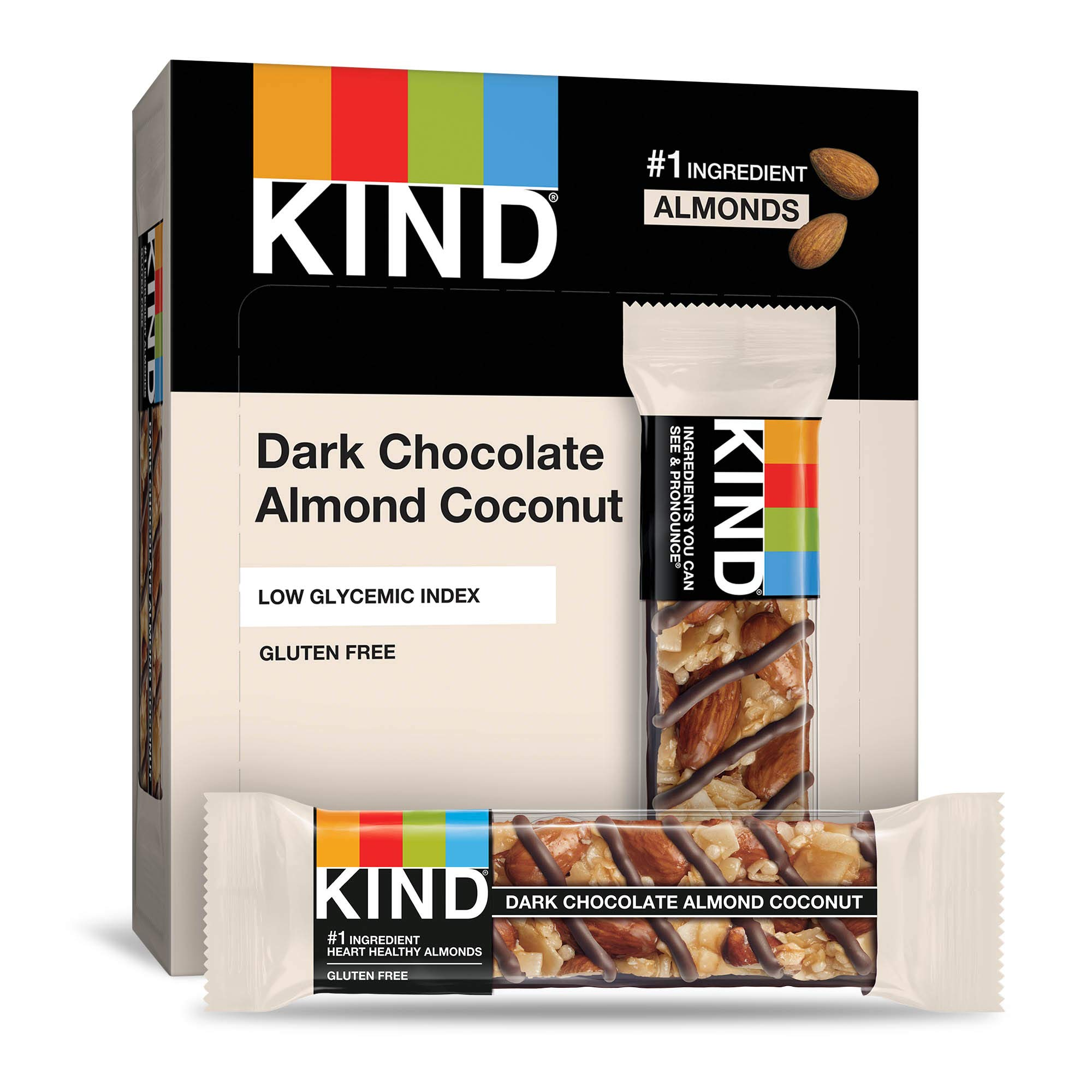 KIND Bars, Dark Chocolate Almond Coconut, Gluten Free, 1.4 Ounce Bars, 12 Count by KIND