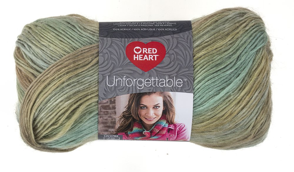 Red Heart 444152 Unforgettable Waves Yarn, Tealberry E793-3952