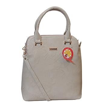 f086af0dd8a9 Buy mariQuita Shoulder Bag Sling Bag Large with Handle Multi Pocket Cream  Women Handbag Designer Handbag Online at Low Prices in India - Amazon.in
