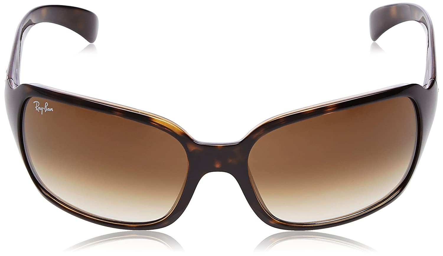 Ray-Ban RB4068 Square Sunglasses, Light Havana/Brown Gradient, 60 mm