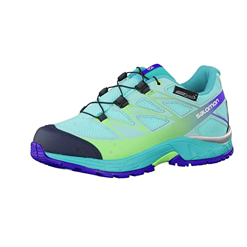 Salomon L39055400, Zapatillas de Trail Running para Niños, Azul (Bubble Teal Blue F/Fresh Green), 37 EU: Amazon.es: Zapatos y complementos