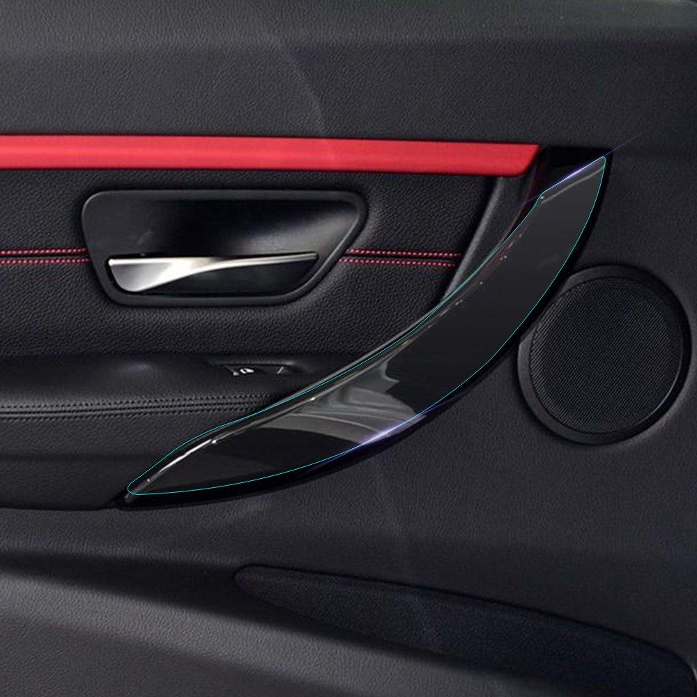 For BMW f30 F34中央制御CDパネルナビゲーション内部クリアペイント保護フィルムブラキット3シリーズ320i 2013 – 2018 SHF005 B07C8ZY55H  4 Pieces Door Stripes
