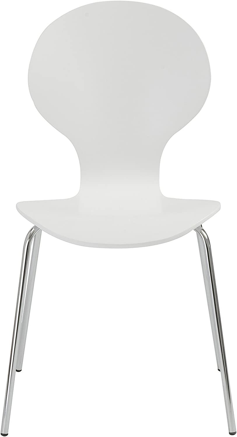 Eur Style Bunny Stacking Chair, Set of 4, White