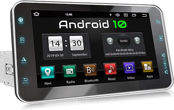 XOMAX XM-VA801 Radio de Coche con Android 10 I Quad Core, 2GB RAM, 32GB ROM I GPS I Soporte WiFi, 3G, 4G, Dab+, OBD2 I Bluetooth I 8 Pantalla Táctil ...