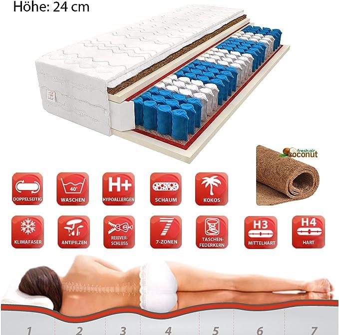 7 Zonen Komfort Kokos Matratze 90x200 100x200 120 140x200 160 180x200 H3 H4