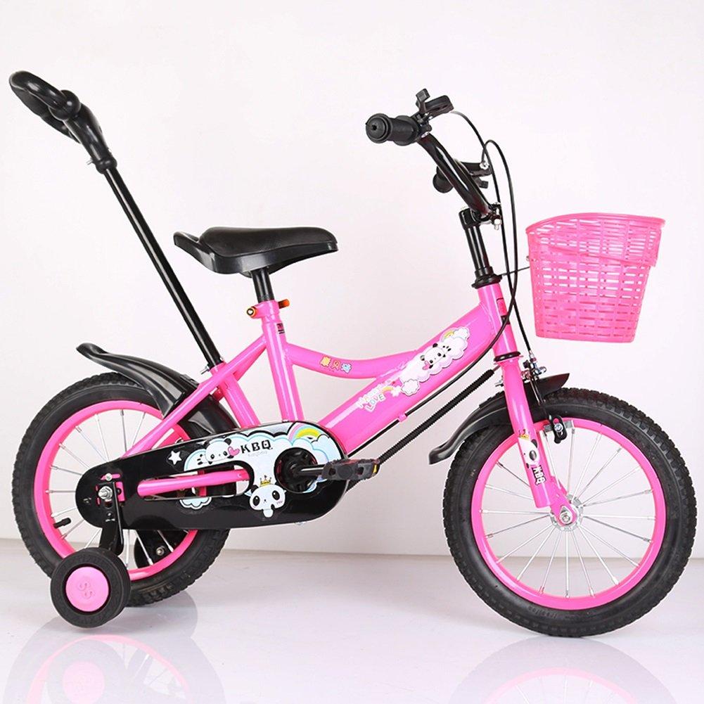 yxgh-子供の自転車12 /14 /16インチバイク2 – 3 - 5 – 7 Years Old Boys and Girls Children PreschoolベビーCarriage withプッシュロッド B07DCJMKZR 12