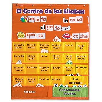 Amazon.com : Learning Resources El Centro de las Silabas (Spanish Syllables) Pocket Chart : Classroom Pocket Charts : Office Products