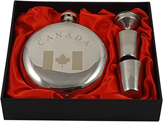 Palm City Products Canada Flask Gift Set