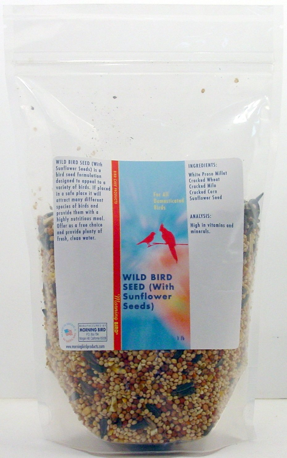 Wild Bird Seed (with Sunflower Seeds) (20 lb) Morning Bird Inc. MB488
