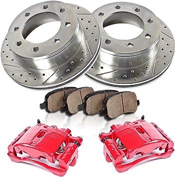 Rear Brake Calipers Rotors /& Pads For 2003 2004 2005 2006 SILVERADO SIERRA 1500