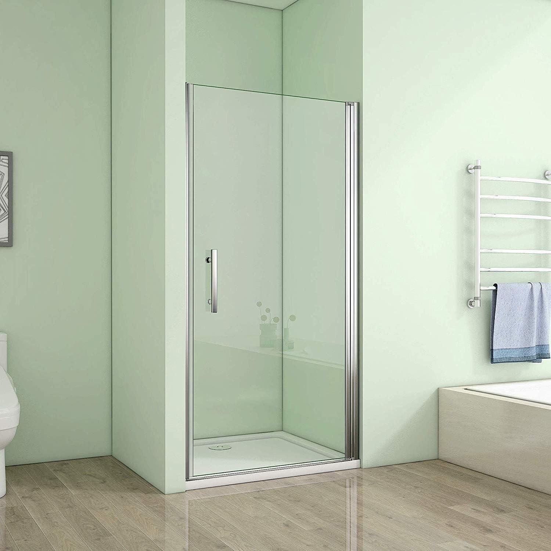 70 x 185 cm nichos Puerta de ducha puerta Mampara – pared de ducha giratoria Nano Cristal (A1 – 70E + 1B): Amazon.es: Bricolaje y herramientas
