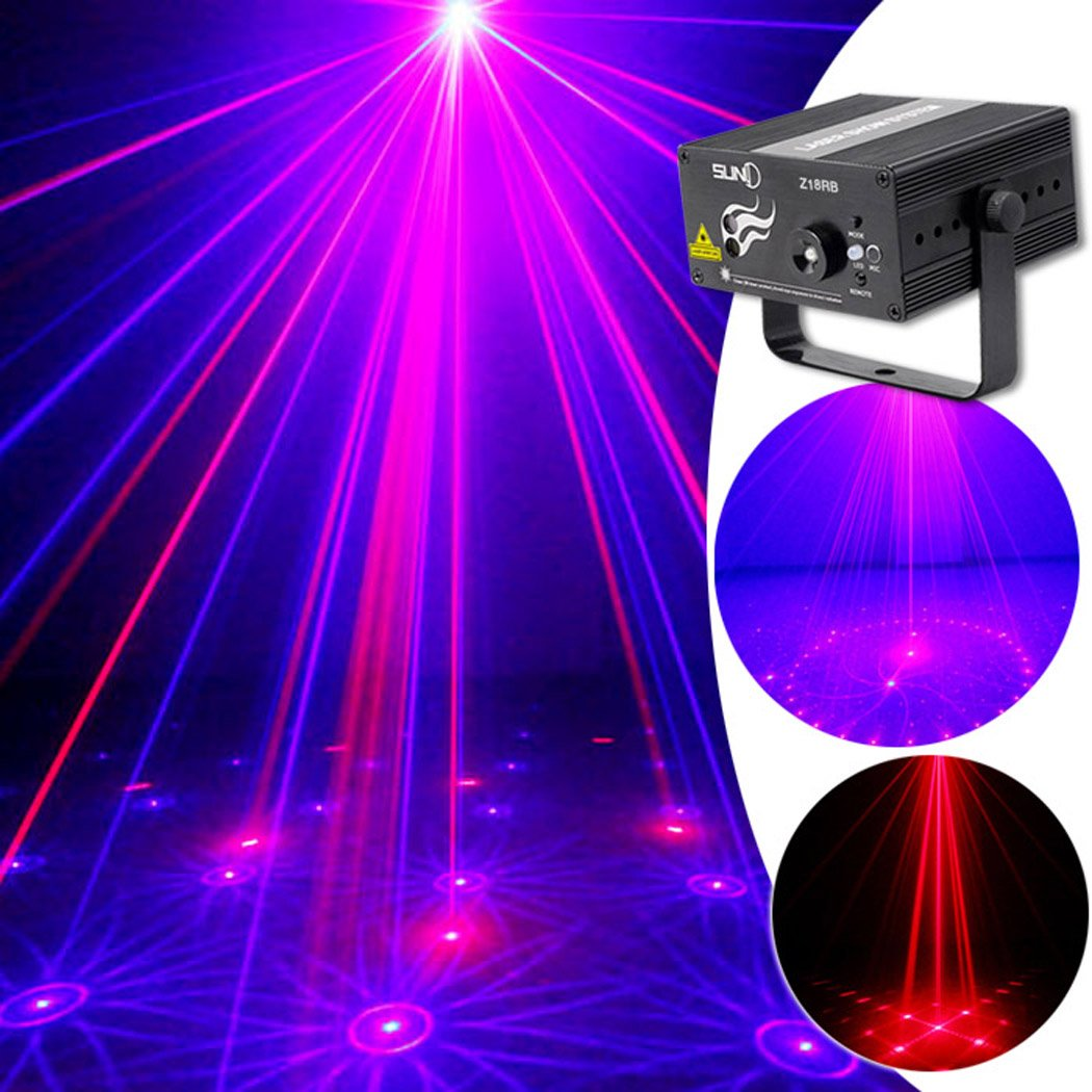 SUNY Laser Light Blue Red Combined Pattern Mixing Effect Blue LED Indoor Z18RB for DJ Pub Home Show Xmas Party Decor Projector
