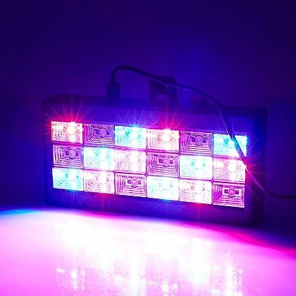 Amazon.com: doober, 18 LED RGB proyector de luz Luz ...