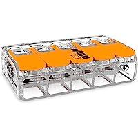30 unidades Wago 221-415 terminal de conexión 5 hilos con palanca 0,2-4 qmm diseño pequeño, transparente