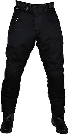 Schwarze Motorradhose Mit Herausnehmbarem Thermofutter Protektoren Und Weitenverstellung Für Sommer Und Winter Auch In Kurz Und Übergrößen Auto