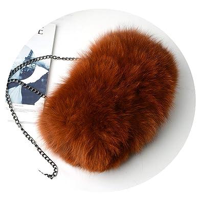 c4927b704d10 Fashion Designer Real Fox Fur Women Messenger Bag Winter New Women Chain Shoulder  Bag Luxury Fur
