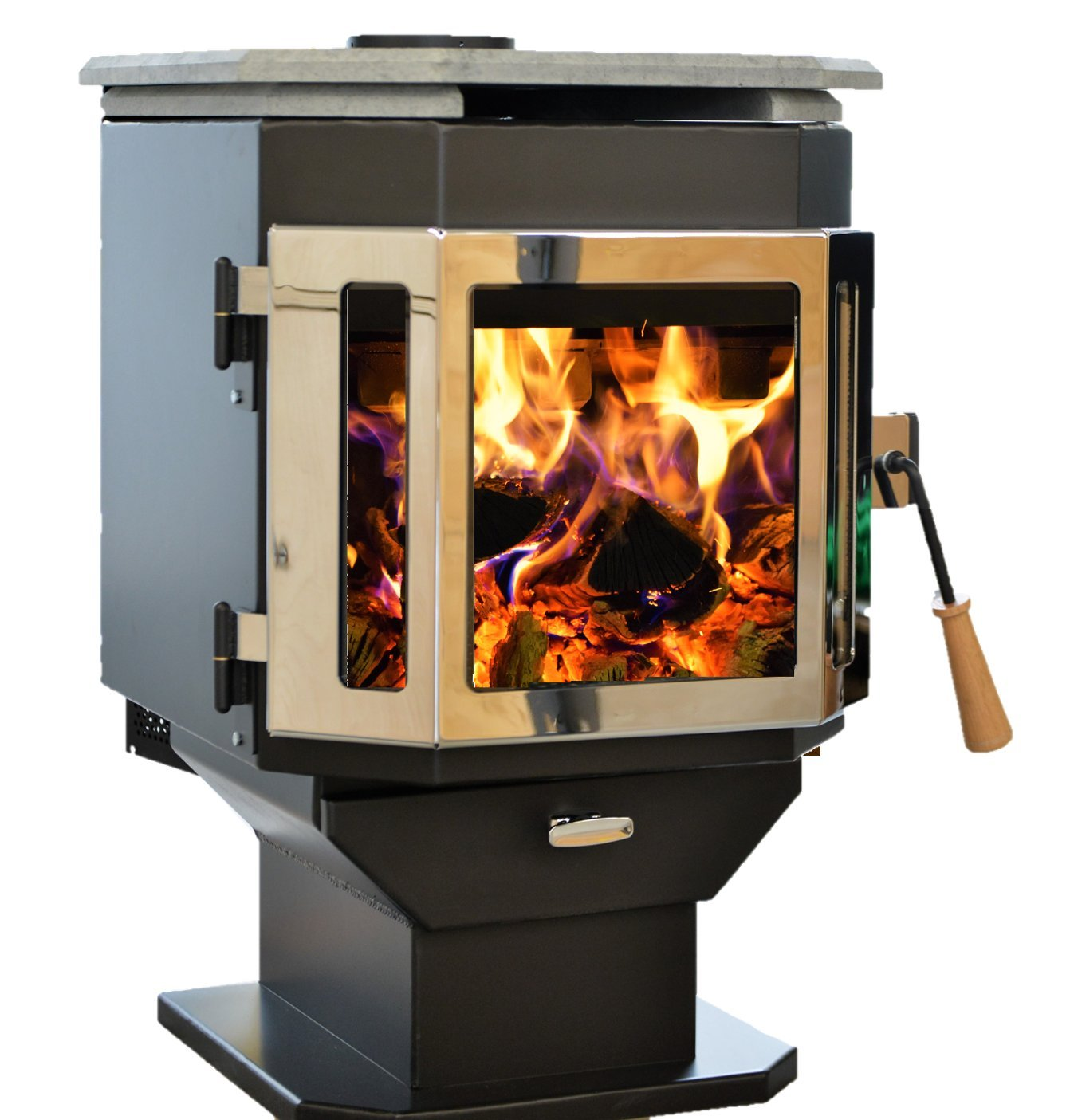 MF Fire Catalyst Efficient Wood Burning Stove