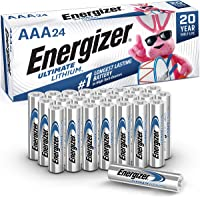 Energizer AAA Lithium Batteries, Ultimate Lithium Triple A Battery (24 Count), Longest-Lasting AAA Battery