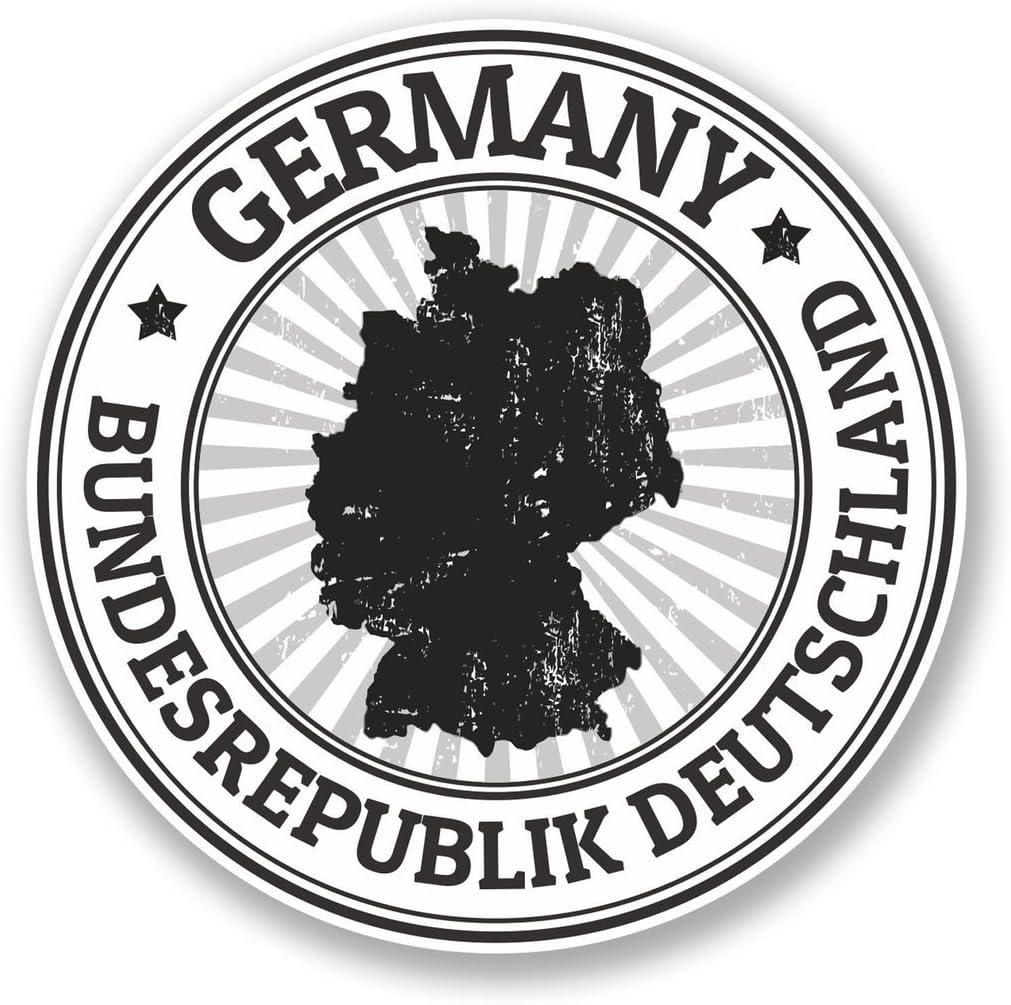 2 x Germany Vinyl Sticker Laptop Travel Luggage #4502