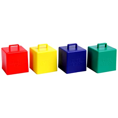 Cube Weight 65 g Balloon Weight Primary Asst (10 Piece): Toys & Games