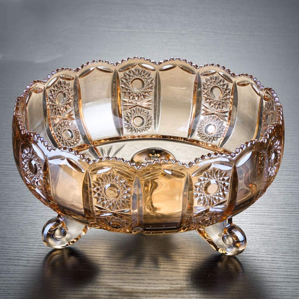 CQ ガラスのフルーツボウルクリエイティブな透明な大フルーツボウルのリビングルーム近代的な家庭の結婚式   B07HHXLL6C