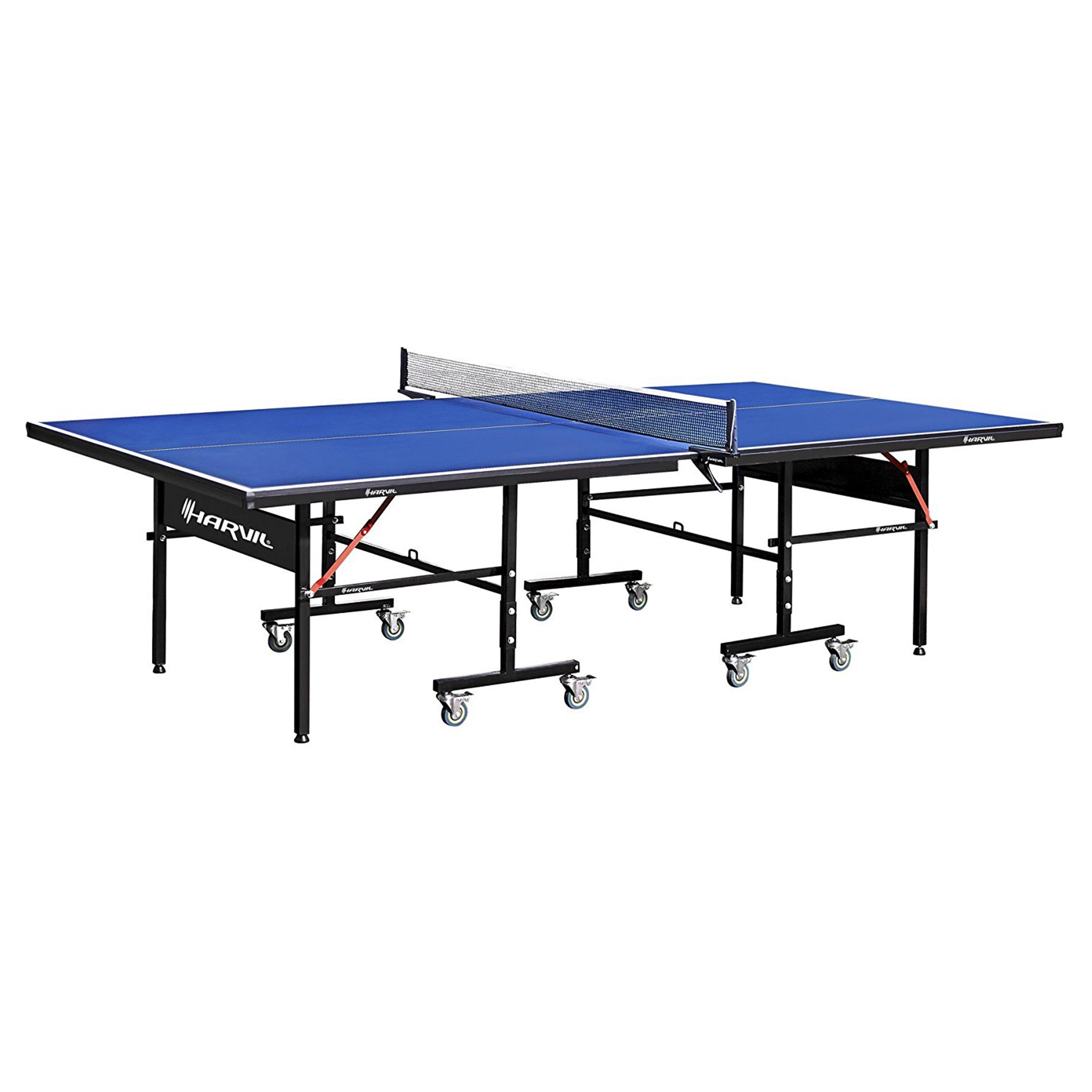 Harvil I, Indoor Table Tennis Table with Playback Feature and Locking Wheels