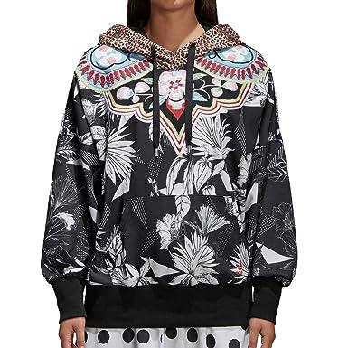 4c3443476ebb Amazon.com  adidas X Farm Women s Floral Tropical Hoodie  Clothing