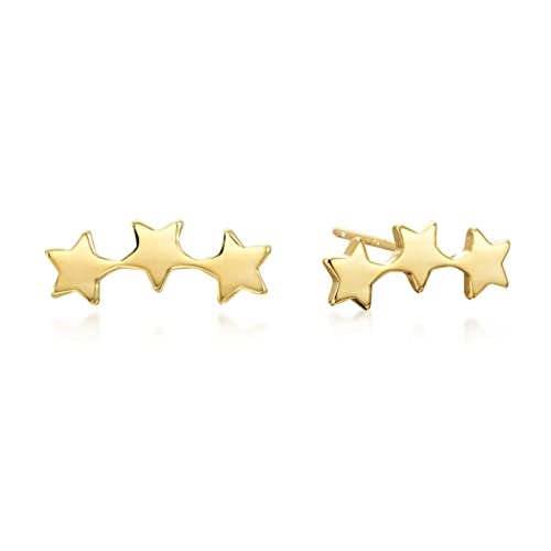 7b68a9284 Amazon.com: Star Climber Earrings in Gold over Sterling Silver: Jewelry