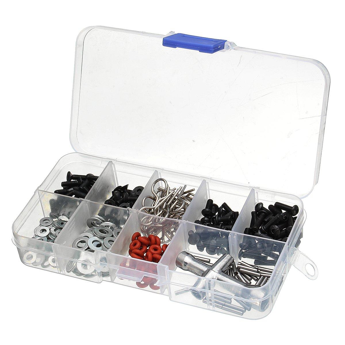JCHUNL 270 stücke Schrauben Box Sechskantschlüssel Sechskantschlüssel Sechskantschlüssel Repair Tool Kit für 1 10 HSP RC Auto DIY New Hot B07QJWC5DN | Deutschland Shops  dbd5f4