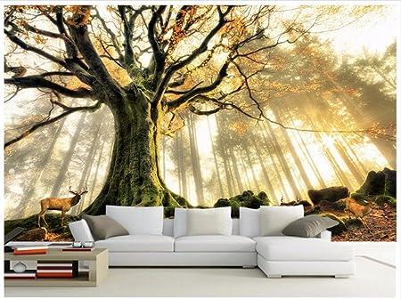 Chlwx 3d Wall Murals Wallpaper Custom Photo Wallpaper Mural Tree