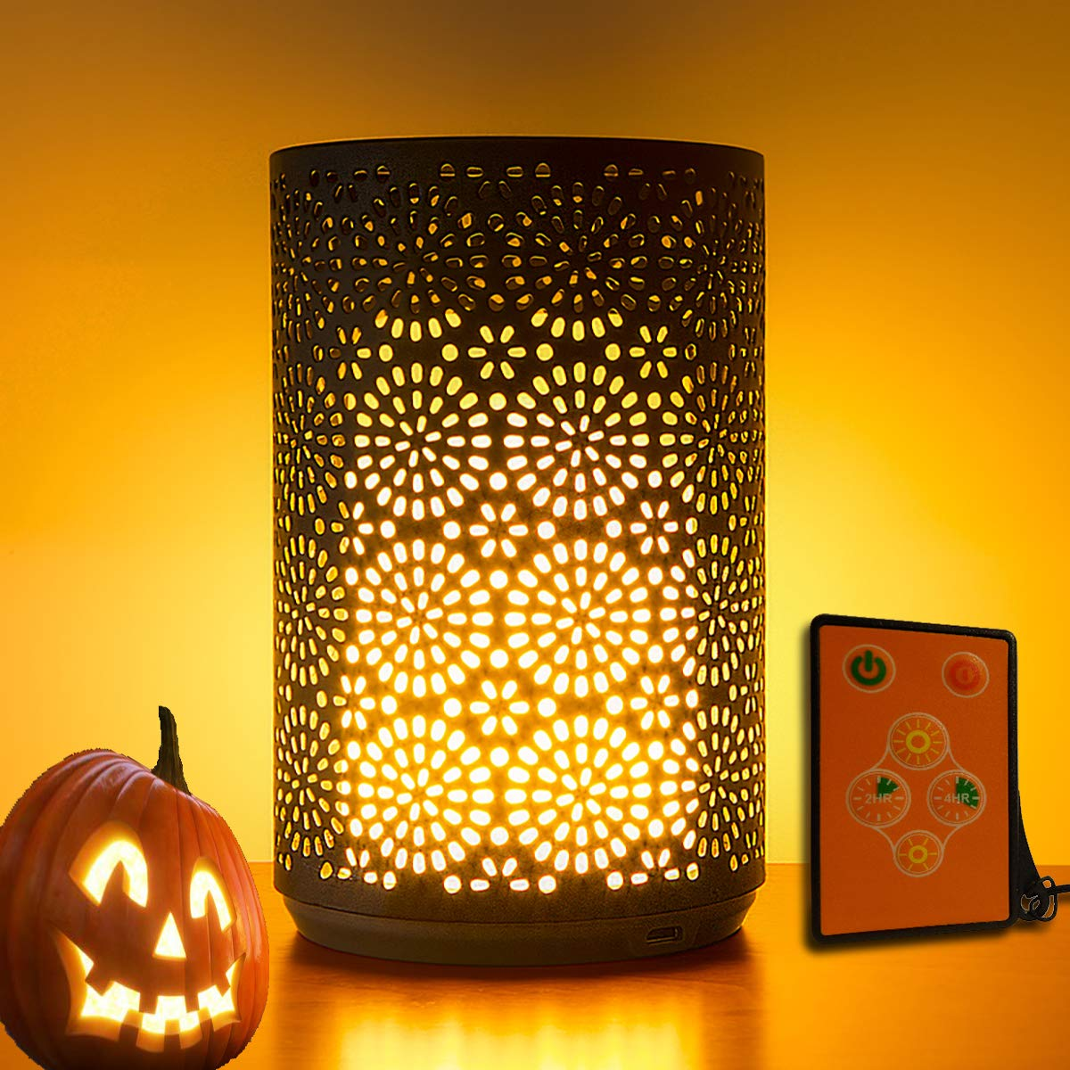 Pretty Portable Dancing Flame Table Lamp LED Home Decor, Vintage Romantic Flickering Flameless Light+Timer, Water-resistant, Built-in Rechargeable Battery+Magnetic Base, Votive halloween Flame Bulb