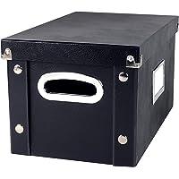 Snap-N-Store Vinyl 45 Record Box, for 45 RPM Vinyl Storage, 8.25 x 7.5 x 14.5 Inches, Black, SNS02079