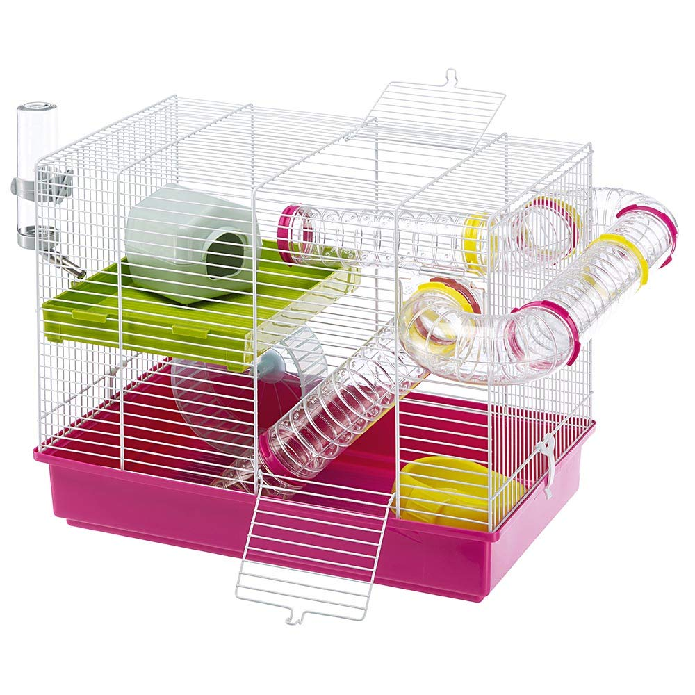 Ferplast Luara Small Hamster Cage | Fun & Interactive Cage Measures Measures 18.11L x 11.61W x 14.8H & Includes All Accessories by Ferplast (Image #3)