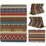 AnNengJing ® for iPad Mini1/2 /3PU Leather Smart Cover Case with Sleep/Wake-up Function丨Colorful Painted Pattern Cover丨Flip Case with Stand Set 丨Multi-Color for your choice (Geometric pattern)