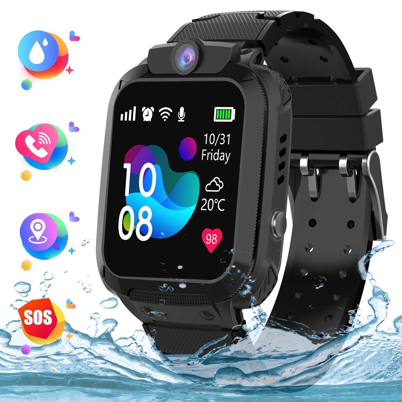 Kids Smartwatch Telefono para Estudiante Niños, IP67 Impermeable Reloj, AGPS/LBS localizador Reloj del Teléfono SOS Chat de Voz Reloj de Cámara, Reloj ...