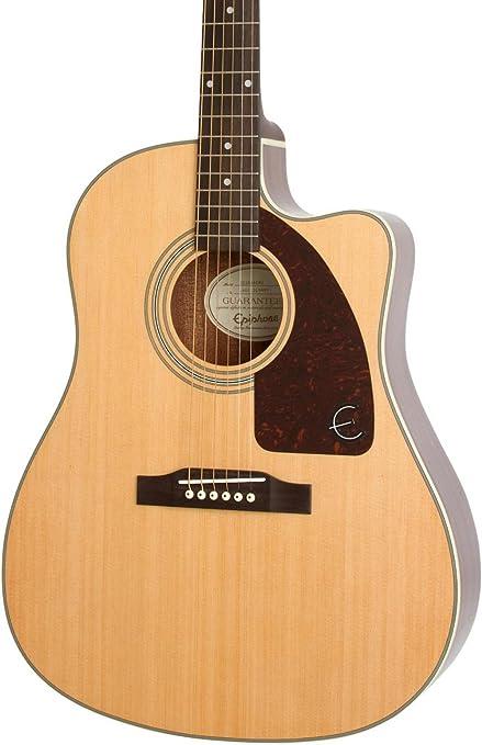 d2f5ba239a3 Amazon.com: Epiphone AJ-210CE Acoustic/Electric Outfit - Natural ...