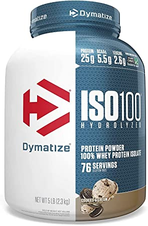Dymatize ISO100 Hydrolyzed 100% Whey Protein Isolate Cookies & Cream -- 3 lbs by Dymatize