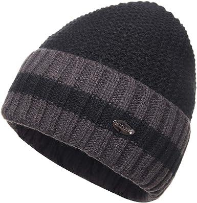FUZE Warm Hat Men Skullies Bonnet Hats for Men Women Beanie Mens Winter Hat Caps