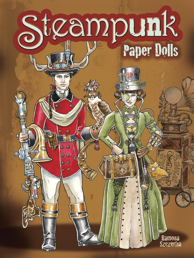 Steampunk Paper Dolls (Dover Paper Dolls) by Dover Publications (Image #1)