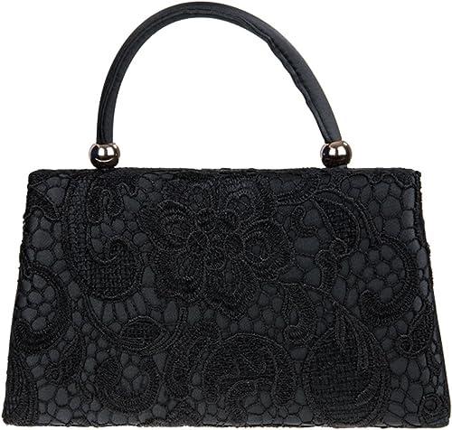Handled Ladies Floral Lace Clutch Designer Women Satin Evening Handbag Bridal UK