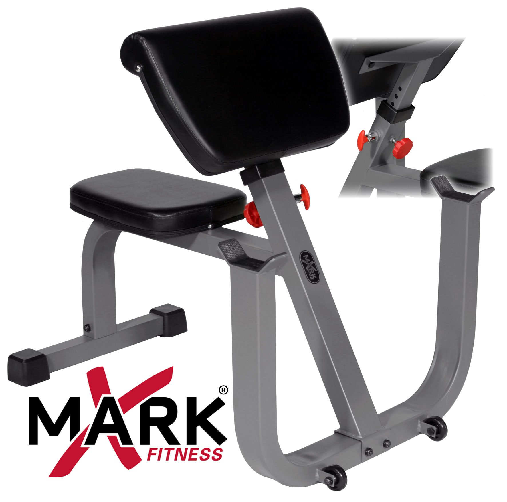 XMark Seated Preacher Curl Weight Bench XM-4436 by XMark Fitness (Image #6)