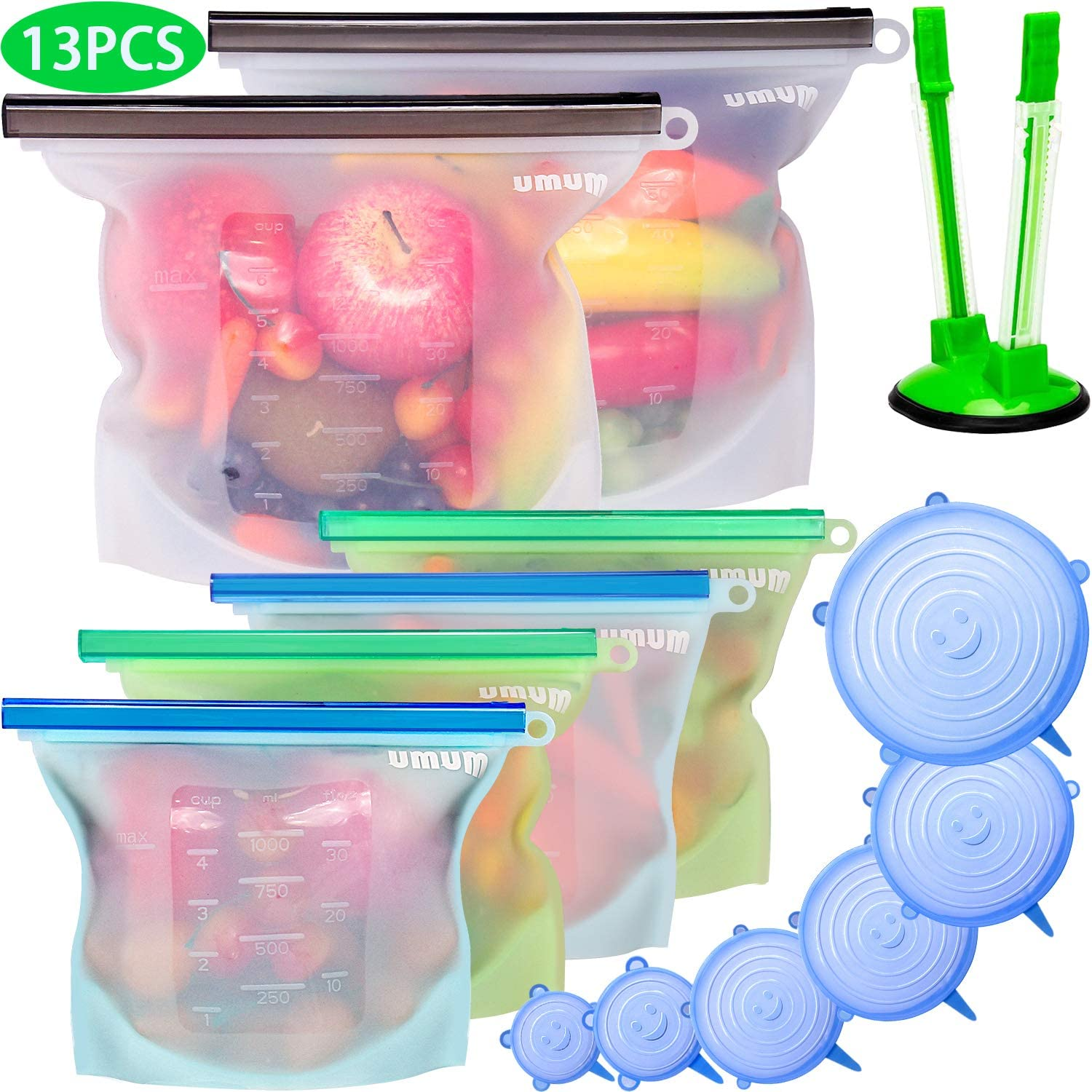 Umum Silicone Storage Bags and Stretch Lids