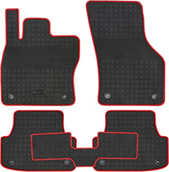 San Auto Car Floor Mat Rubber Custom Fit for Audi A3 2019 2018 2017 2016 2015 Full Black Auto Floor Liners All Weather Heavy Duty Odorless