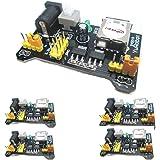 HiLetgo 3.3V/5V MB102 ブレッドボード専用 パワー サプライ モジュール モジュールアダプタシールドArduinoボード用(5個セット) [並行輸入品]