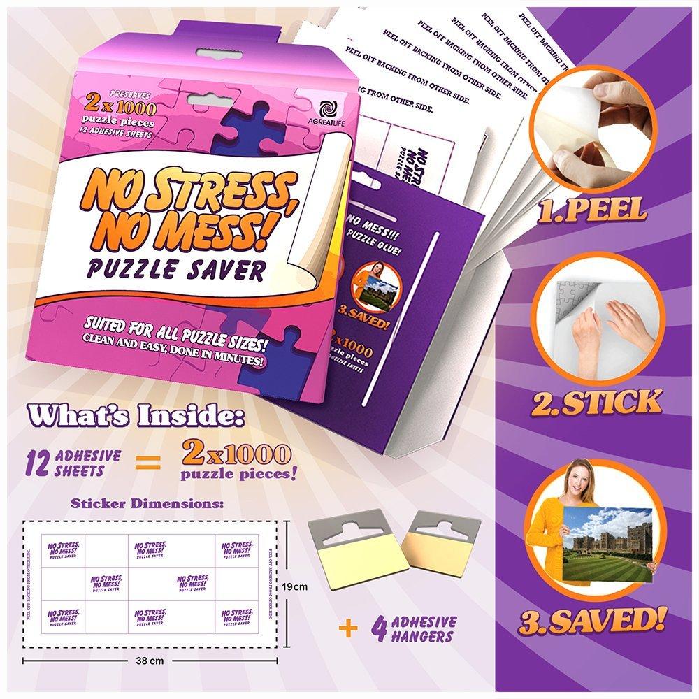 aGreatLife® 12-Blatt Peel & Stick Puzzle Saver: Konservieren und ...