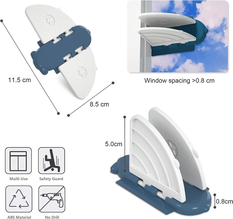 ventana 4Pack Seguridad ventanas correderas cerraduras a prueba de ni/ños para armario corredero SYOSIN Cerraduras de puerta corredera Bloqueo de Seguridad