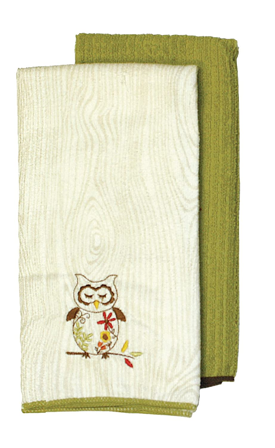 Amazon.com: Ritz Sleepy Owl Collection Embroidered Microfiber ...
