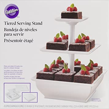 "Brand New 3-Tier Snack Server Stand-White 9"""" ..."